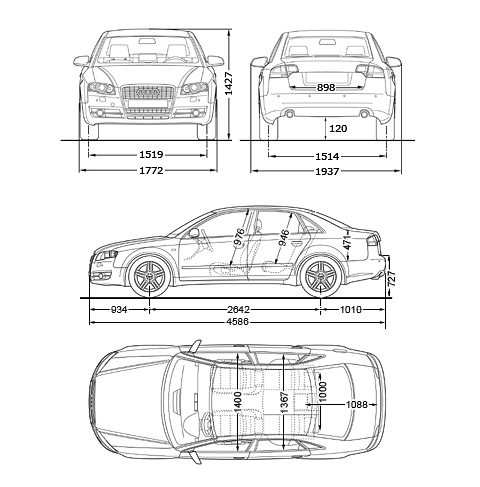 Car Audi A4 Limousine 2006