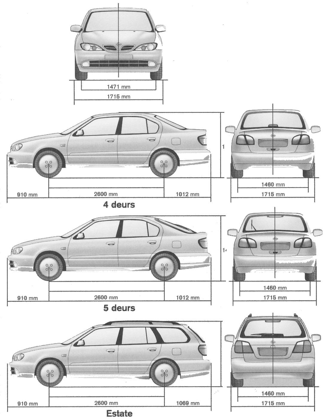 Auto Nissan Primera: Bild Bild zeigt Abbildung Zeichnungen ...