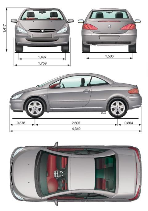 auto peugeot 307 cc bild bild zeigt abbildung zeichnungen schematisch auto. Black Bedroom Furniture Sets. Home Design Ideas