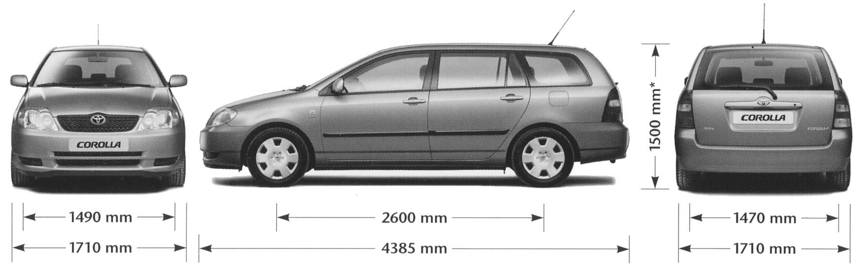 Auto Toyota Corolla Wagon Bild Bild Zeigt Abbildung